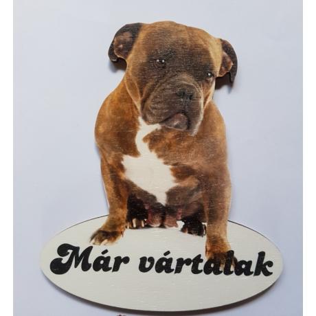 Ajtótábla kutyás amerikai bulldog