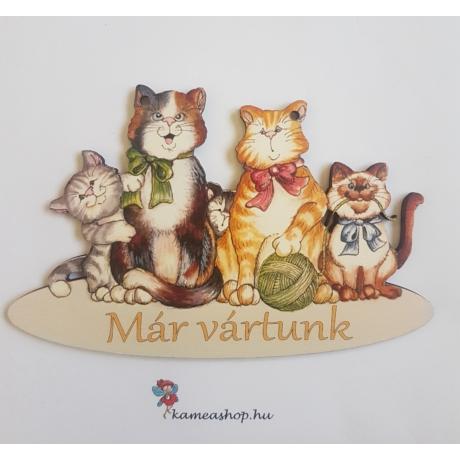 Ajtótábla cica család