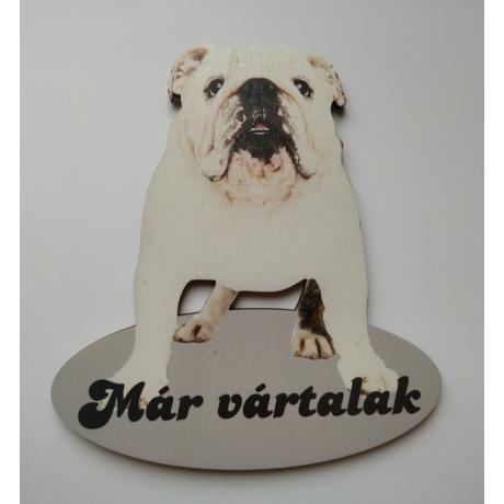 Ajtótábla kutyás angol bulldog
