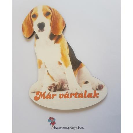 Ajtótábla kutyás beagle